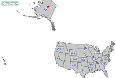 Bettles City, AK Location in United States