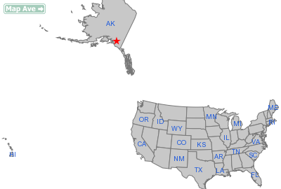Chitina City, AK Location in United States
