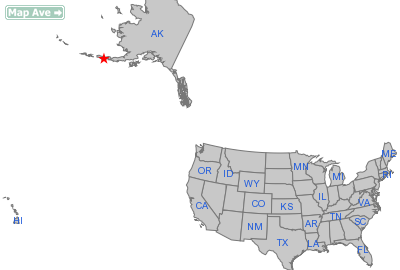 Cold Bay City, AK Location in United States