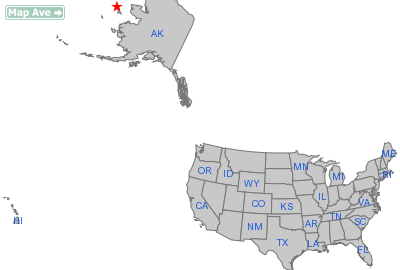 Gambell City, AK Location in United States