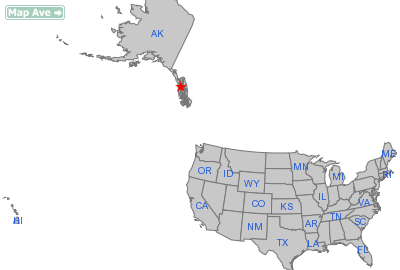 Hoonah City, AK Location in United States