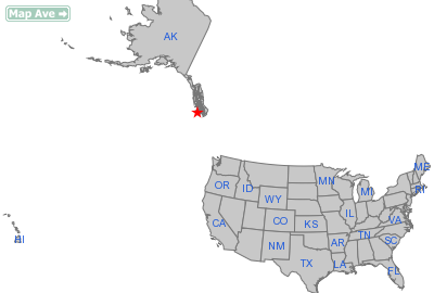 Hydaburg City, AK Location in United States