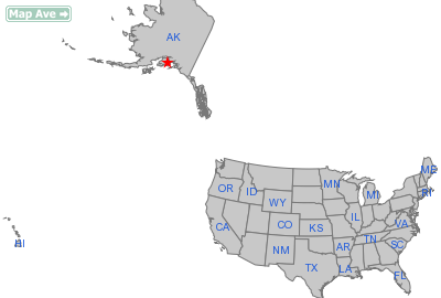 Moose Pass City, AK Location in United States