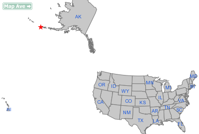 Nikolski City, AK Location in United States