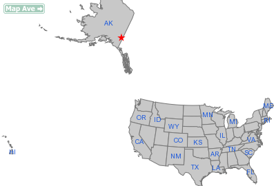 Northway City, AK Location in United States