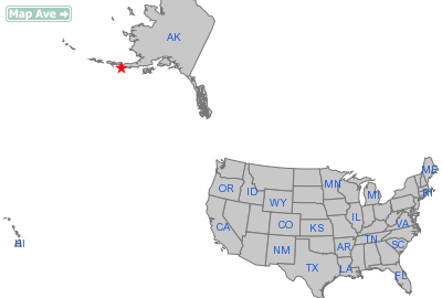 Sand Point City, AK Location in United States