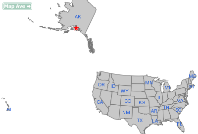 Whittier City, AK Location in United States