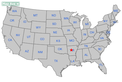 Oppelo City, AR Location in United States