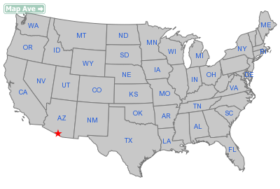 Sells City, AZ Location in United States
