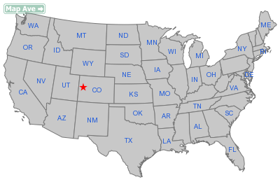 De Beque Town, CO Location in United States