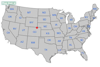 Grover Town, CO Location in United States