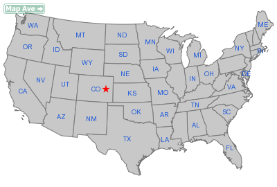 Hugo Town, CO Location in United States