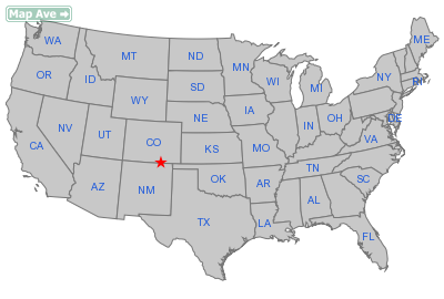 Segundo City, CO Location in United States