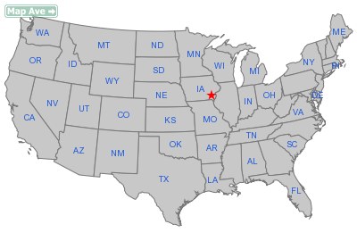 Coppock City, IA Location in United States