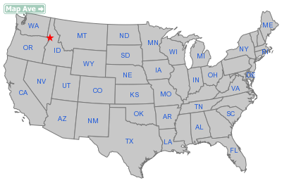 Cottonwood City, ID Location in United States