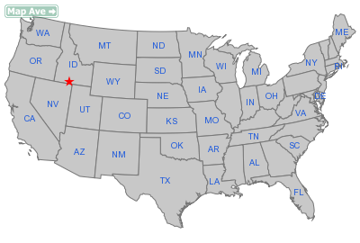 Hollister City, ID Location in United States