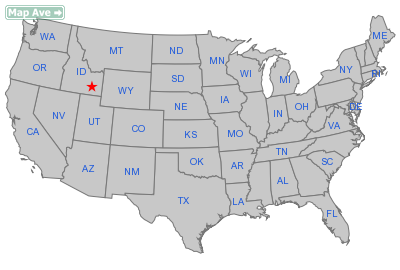 Tyhee City, ID Location in United States