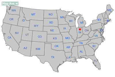 Claypool Town, IN Location in United States