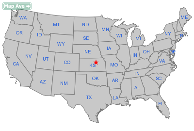 Manchester City, KS Location in United States