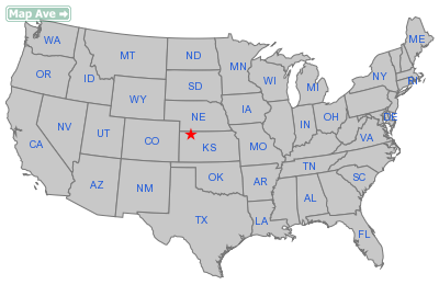Oberlin City, KS Location in United States