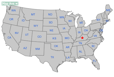 Mackville City, KY Location in United States