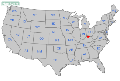 Powersville City, KY Location in United States