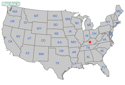 Springfield City, KY Location in United States