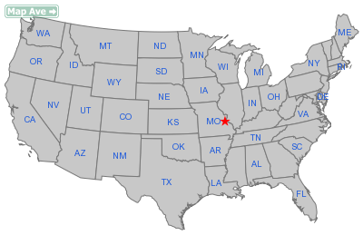 Mapaville City, MO Location in United States