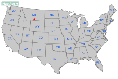 Absarokee City, MT Location in United States