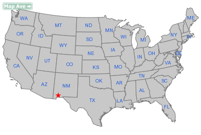 Deming City, NM Location in United States