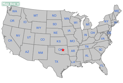Paden Town, OK Location in United States
