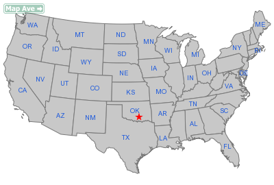 Roff City, OK Location in United States