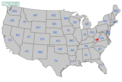Princeton City, WV Location in United States